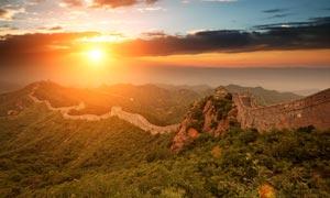 八达岭长城日落美景摄影图片