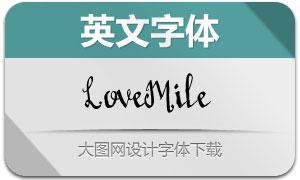 LoveMile系列六款英文字体