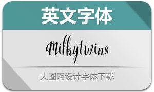 Milkytwins系列两款英文字体