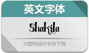 Shakila系列三款英文字体