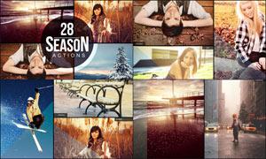 28款唯美的四季艺术效果PS动作