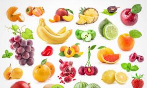 香蕉桃子与柠檬柚子等摄影高清图片