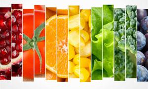 缤纷色彩水果拼贴效果创意高清图片