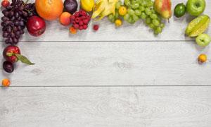 用水果蔬菜拼成的边框创意高清图片