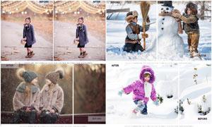 照片添加逼真的暴风雪效果PS动作