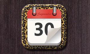 立体风格的日历图标PS教程源文件