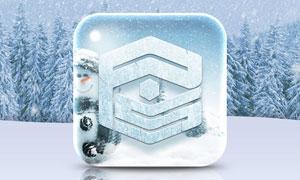 冰雪特效的APP图标设计PS教程素材
