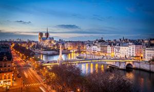 城市夜景景观调色PS教程素材