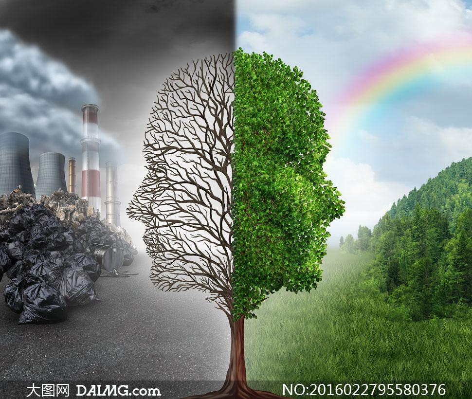 生态环境保护主题创意设计高清图片