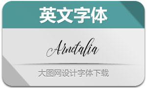 Arnetalia(手写英文字体)