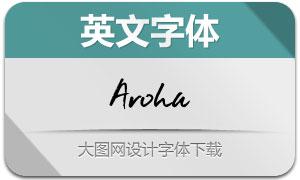 Aroha(手写英文字体)