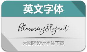 BloomingElegant系列6款字体