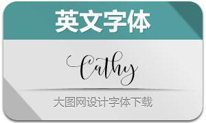 Cathy系列5款英文字体