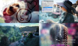 数码照片添加玻璃雾气特效PS动作