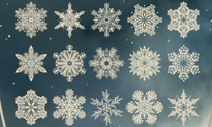 高清晰雪花形状PS笔刷