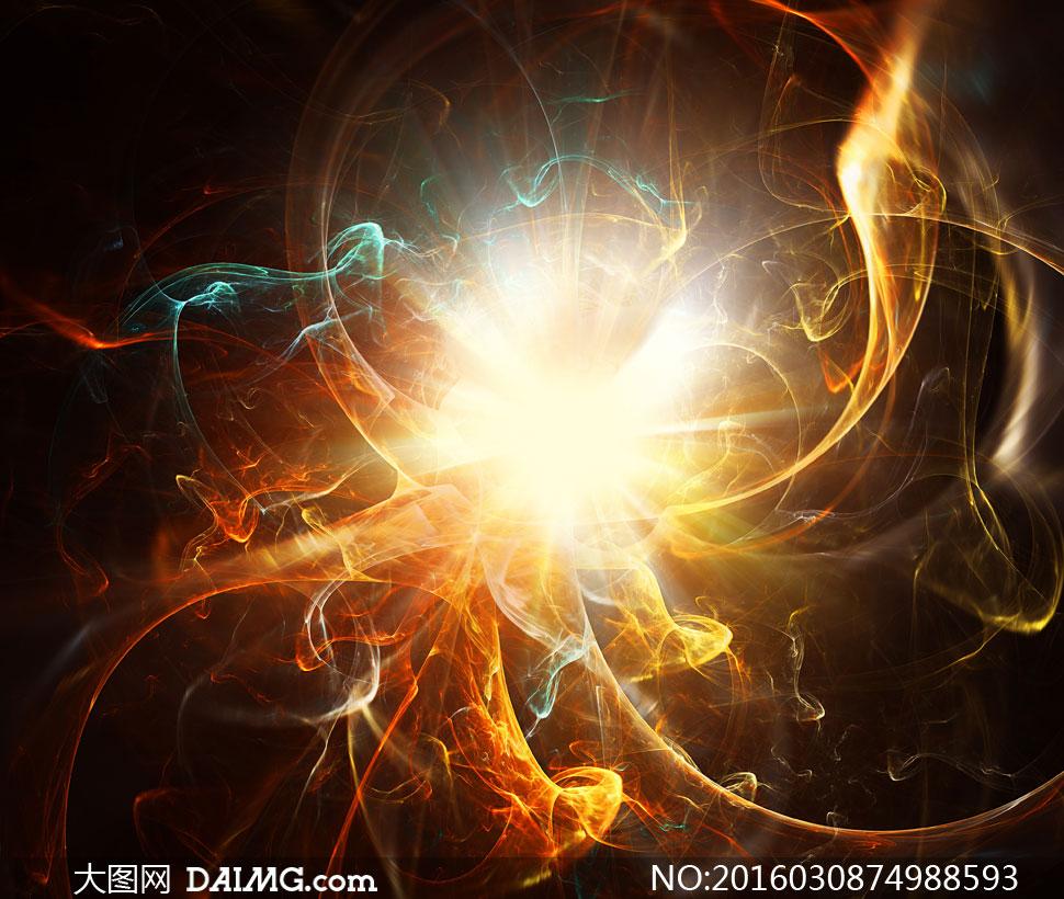 炫丽抽象光效视觉创意设计高清图片图片