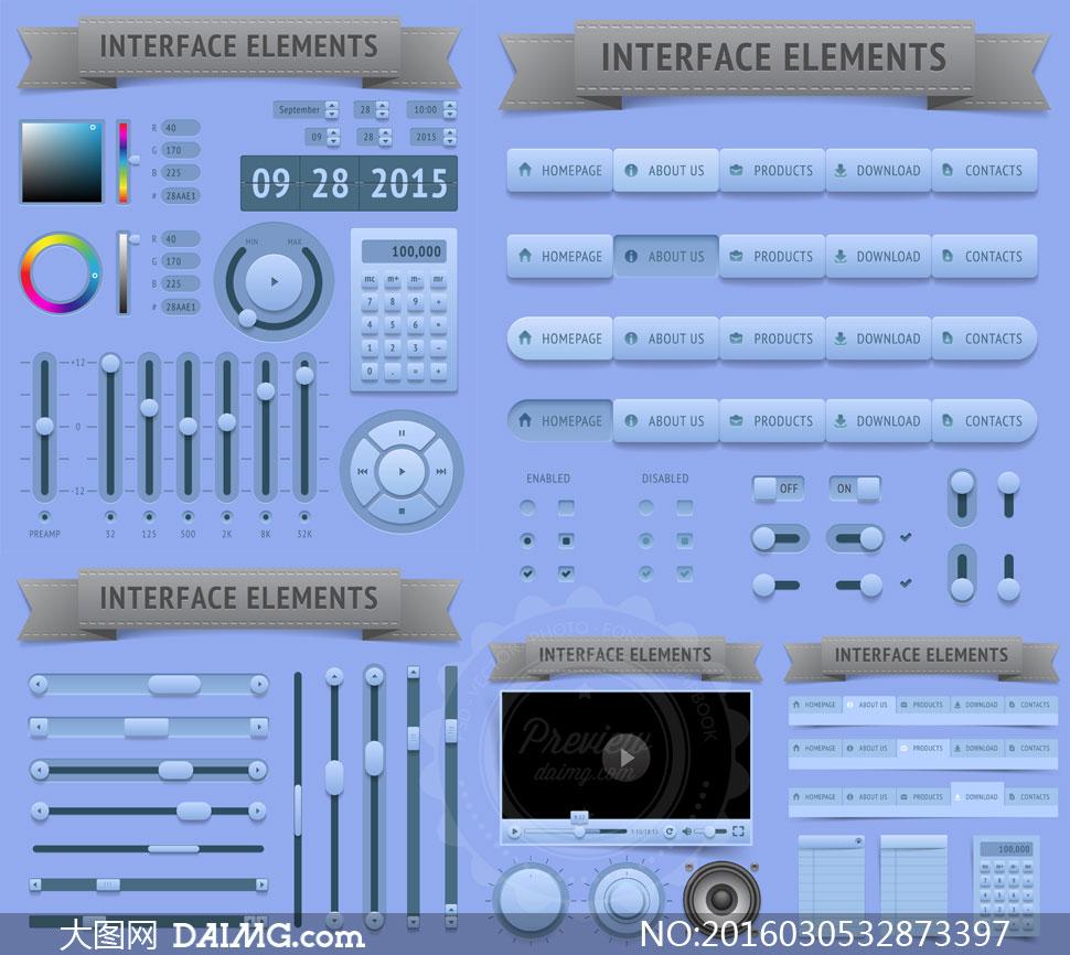 压缩包已封装预览图片; 关 键 词: 矢量素材矢量图设计素材设计元素ui