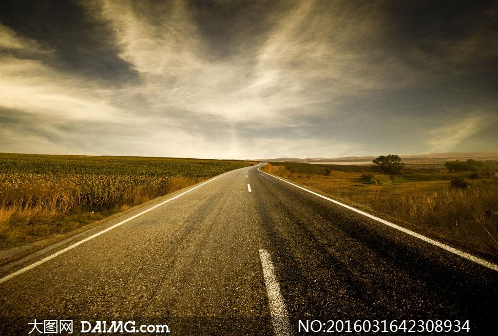 关 键 词: 高清大图图片素材摄影天空云层云彩多云道路公路路旁路边