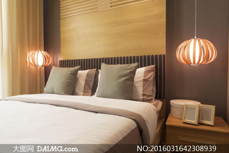 卧室房间里的欧式家具摄影高清