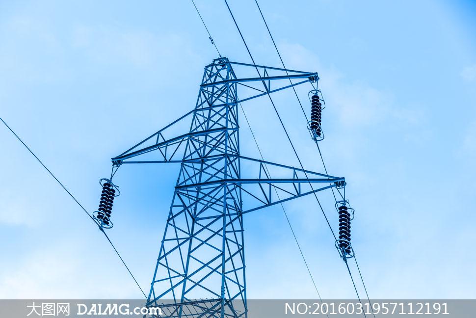 高压输变电线路铁塔等摄影高清图片