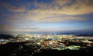 韩国首尔美丽夜景摄影图片