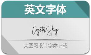 CrystalSky系列三款英文字体