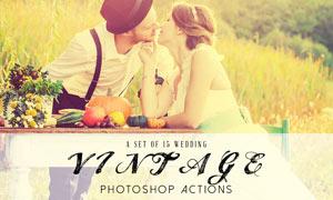 15款婚礼照片复古效果PS动作