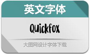 Quickfox系列两款英文字体