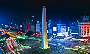 布宜诺斯艾利斯的夜晚风光高清图片