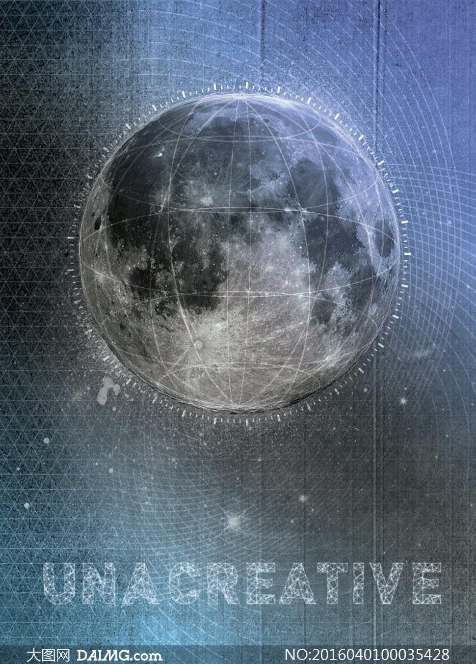 创意的星球海报设计ps教程素材