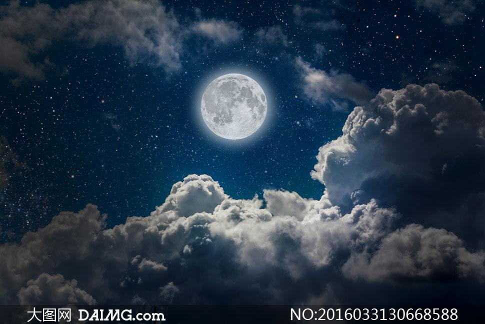 关 键 词: 高清大图图片素材摄影自然风景风光月亮明月星空星星圆月