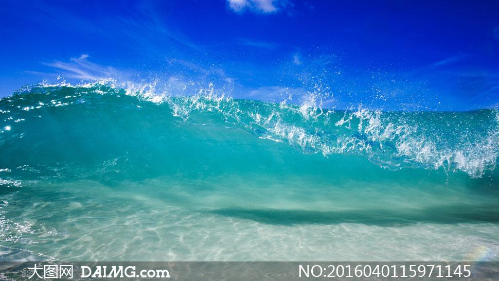 词: 高清大图图片素材摄影自然风景风光大海海水海浪波浪波涛海上浪花