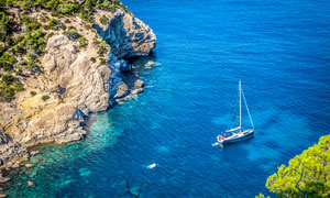 西班牙伊维萨岛屿风光摄影高清图片