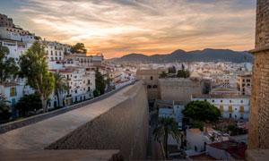 西班牙伊维萨城区风光摄影高清图片
