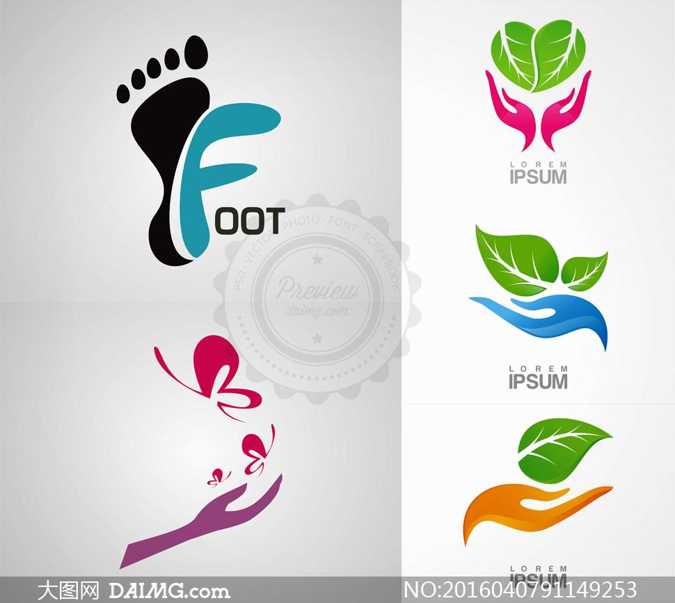 动物脚印logo