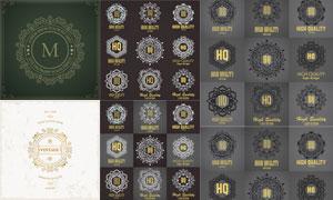 会徽纹章等花纹边框元素矢量素材V2