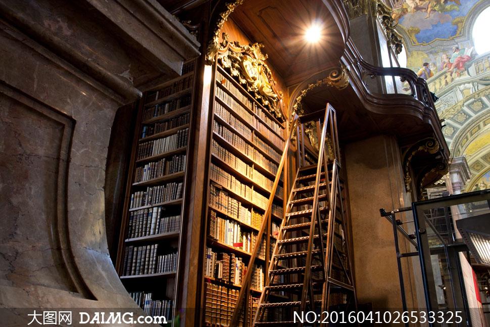 欧式风格的图书馆内景摄影高清图片 大图网素材daimg Com