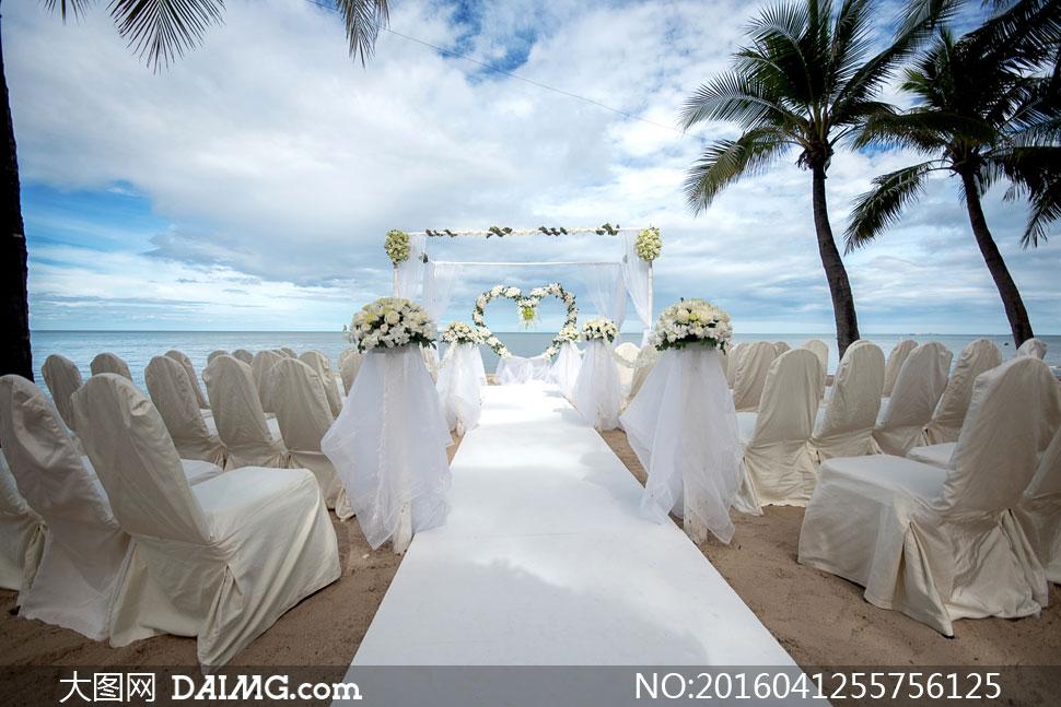 大图首页 高清图片 自然风景 > 素材信息          浪漫沙滩婚礼现场