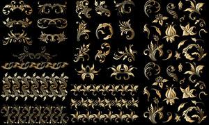 金色豪华尊贵花纹图案等矢量素材V2