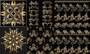 花纹图案装饰与平铺背景等矢量素材