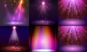 炫丽效果舞台聚光灯主题矢量素材V1