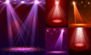 炫丽效果舞台聚光灯主题矢量素材V2