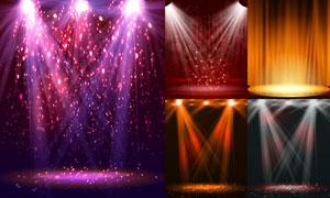 炫丽效果舞台聚光灯主题矢量素材V4