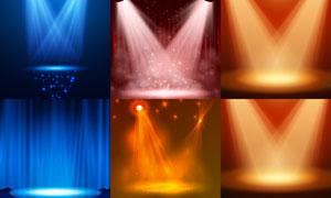 炫丽效果舞台聚光灯主题矢量素材V5