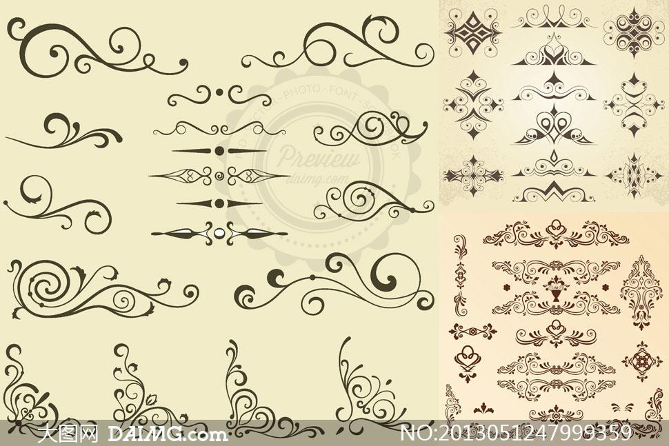 装饰适用花纹花边图案主题矢量素材