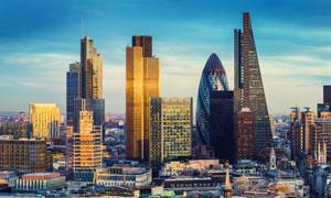 城市摩天大楼等建筑群摄影高清图片