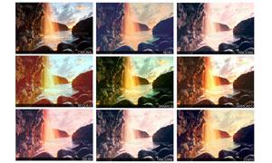 風景照片單色藝術效果PSD調色圖層