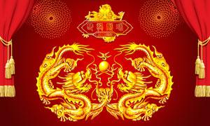 中国龙纹图案设计PSD源文件