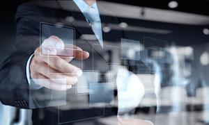 全息投影与商务人物等创意高清图片