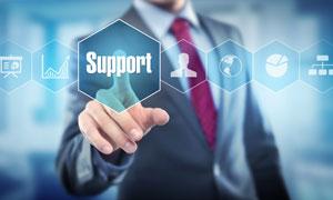 服务支持主题商务人物创意高清图片